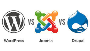 WordPress v Joomla v Drupal